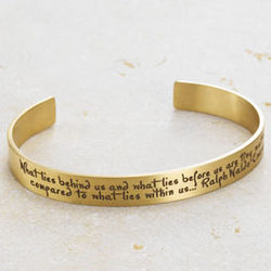What Lies Within Us Brass Cuff Bracelet
