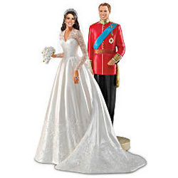 William and Catherine Royal Couple First Anniversary Figurine