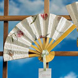 Bamboo Flower Petal Wedding Fan Favor