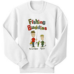 Personalized Fishing Buddies Youth Sweatshirt
