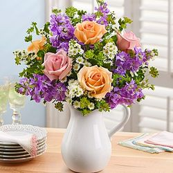 Make Mom's Day Bouquet in Pitcher