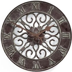 Cast Aluminum Indoor/Outdoor Rust-Resistant Quartz Clock