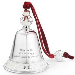 2013 Snowman Bell Christmas Ornament