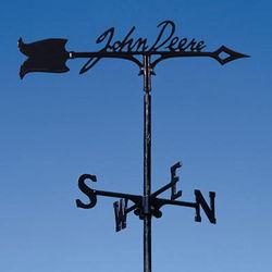 John Deere Black Signature Garden Stake Weathervane