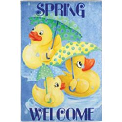Spring Welcome Large Garden Flag