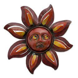 Floral Sun Sunflower Steel Wall Art Sculpture