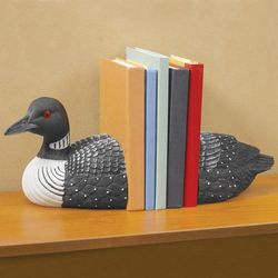 Loon Bird Bookends