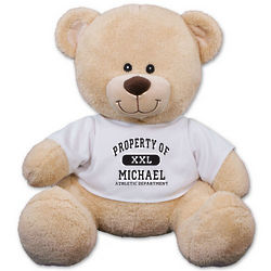 Personalized Property Of Athletic Department Teddy Bear