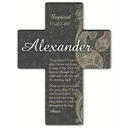Morning Prayer Personalized Paisley Praise Cross