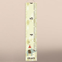Circus Princess Personalized Height Chart