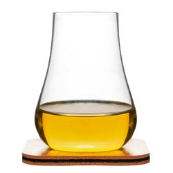 2 Whiskey Tasting Glasses with Tapered Openings