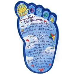 Footprints for Children Plaque