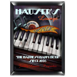Piano Lounge Personalized Pub Sign