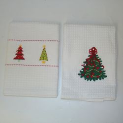 Personalized Christmas Tree Design Kitchen Towels