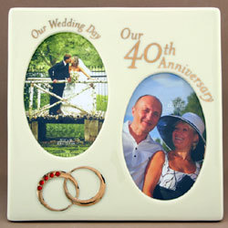 Our 40th Wedding Anniversary Ring Frame FindGiftcom