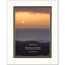 Wife or Girlfriend Poem Ocean Sunset Print