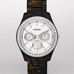 Stella Faux Tortoise Glitz Watch