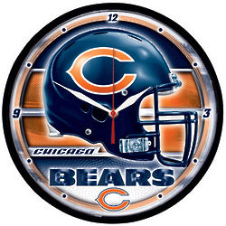 Chicago Bears Round Clock