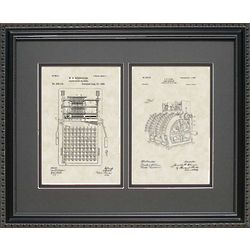 Calculator & Cash Register Patent Framed Print