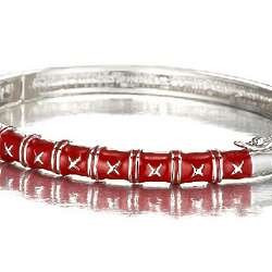 Bangle Bracelet in Enamel and Sterling Silver