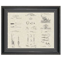 Dental Collection Patent Framed Print 20x24