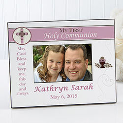 Personalized Communion Picture Frame for Girls
