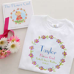 Personalized Flower Girl T-Shirt and Book