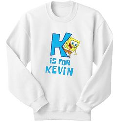 Personalized SpongeBob Initial Sweatshirt