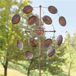 Double Sun Metal Wind Spinner