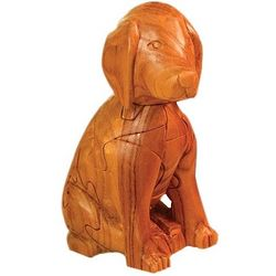 Three Dimensional Wooden Dog Puzzle