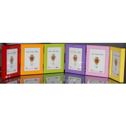 Multicolor Wood Wallet Size Picture Frames