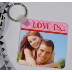 Love Is Photo Key Chain
