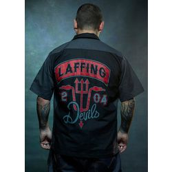 The Devil's Ride Laffing Devils Bowling Shirt