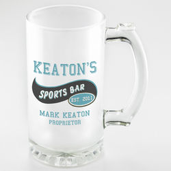 Personalized Sports Bar Frosted Beer Mugs
