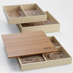 Monogram Modular Wood Jewelry Box