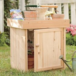 Solid Wood Planter Box and Potting Table