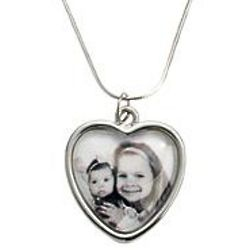 Personalized Photo Heart Pendant Necklace