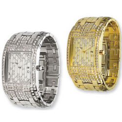 Moog Fashionista Jewel Rain Gold or Silver Plated Watch