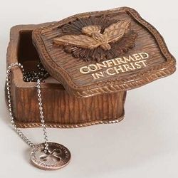 Confirmation Wood Look Keepsake Box