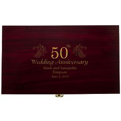 50th Anniversary Celebration Personalized Wine Set