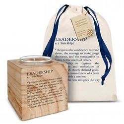 Personalized Leadership Definition Candle
