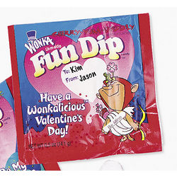 Wonka Lik-m-aid Fun Dip Valentine Card Kit