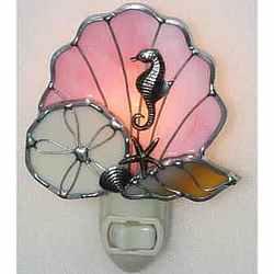 Stained Glass Seashells Night Light