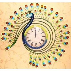 Magnificent Peacock Quartz Wall Clock