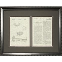 Judge's Gavel Patent Framed Print
