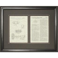 Judge's Gavel Patent Framed Print