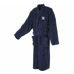 New York Yankees Men's Ultra Plush Navy Bathrobe