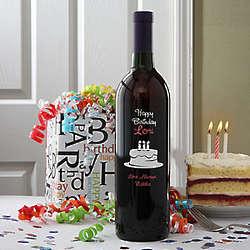 Personalized Birthday Cake Wine Bottle