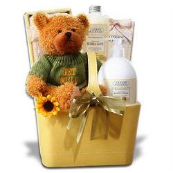 Cuddle Bear Get Well Basket