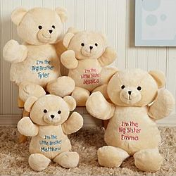 Personalized Little Brother or Little Sister Plush Bear
